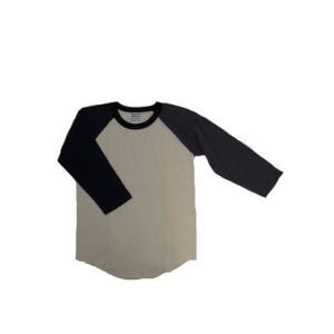ワラワラ WALLA WALLA SPORTS   3/4 ベースボールTシャツ クレイジーパターン USA製|gaku-shop