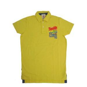 FRANKLIN&MARSHALL(フランクリン マーシャル) 33181-4067 オールドサーフ感で フロッキーバックプリント ポロシャツ|gaku-shop