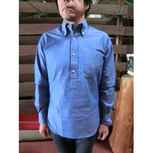 INDIVIDUALIZED SHIRTS(インディビジュアライズドシャツ) Standard Fit Long Sleeve ボタンダウンシャンブレープルオーバー SHAMBRAY|gaku-shop