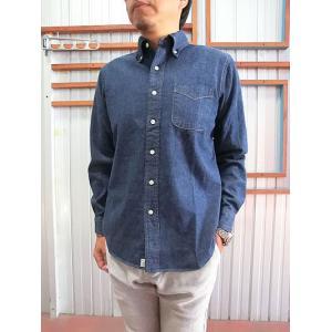orslow (オアスロウ) 01-8012-81 ボタンダウンシャツ denim one wash デニムボタンダウンシャツ|gaku-shop
