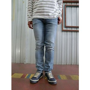 Nudie Jeans(ヌーディージーンズ) 44161-1113 THIN FINN(シンフィン) CLEAR CONTRAST ウォッシュ加工されたTHIN FINN CLEAR CONTRAST|gaku-shop