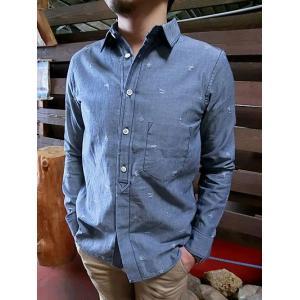 Jackman ジャックマン JM7060 ベースボールシャツ 織り込み模様 シャンブレーシャツ |gaku-shop