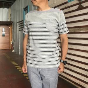 EDITOR'S(エディターズ) パネルマルチロープボーダー マリンワイドネックTシャツ|gaku-shop