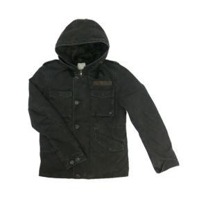 EDITOR'S(エディターズ) フード付きでカジュアルミリタリー 中綿ショートジャケット ブラック|gaku-shop