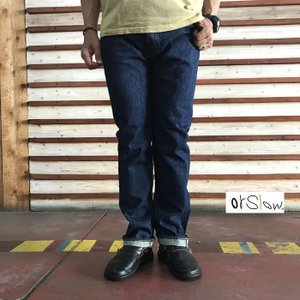 orslow オアスロウ 01-0107-81 Mens IVY FIT JEANS ONE WASH アイビーフィットジーンズワンウォッシュ Made in Japan|gaku-shop
