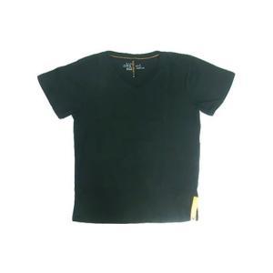 Nudie Jeans(ヌーディージーンズ) 37161-4004 V-NECK T-SHIRT オーガニック半袖VネックT BLACK|gaku-shop