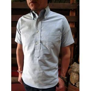 INDIVIDUALIZED SHIRTS(インディビジュアライズドシャツ) PULL OVER REGATTA  OX プルオーバー半袖ボタンダウンシャツ ブルー|gaku-shop