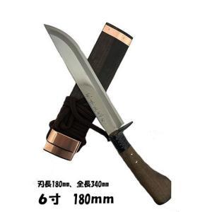 土居 良明 どいよしあき 名工オリジナル鍛造剣ナタ 180MM 塗り仕様 gaku-shop