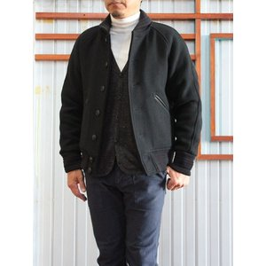 Jackman ジャックマン Jackman(ジャックマン)Award Jacket JM8607 アワードジャケット Black Made in Japan |gaku-shop