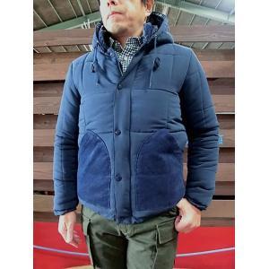 U.S.W U.S.W フード付き中綿切替ジャケット ネイビー|gaku-shop