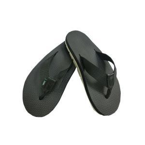 ISLAND SLIPPER 正規品 IG110LT Nylon w Leather Thongサンダル BLACK|gaku-shop
