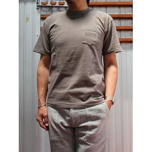PENDLETON(ペンドルトン)  ENTRY SGコラボ ROUTE66 Tシャツ Bronze Grey Japan Fit  ポケT|gaku-shop
