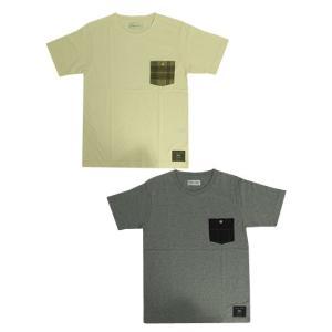 U.S.W Hub&Spoke ハブアンドスポーク チェックポケットTシャツ MOON社ツィードポケットつきTシャツ OffWhite Gray |gaku-shop