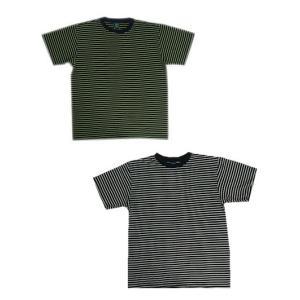 グッドオン GOOD ON グッドオン 半袖Tシャツ 細ボーダーT BORDER TSHIRTS|gaku-shop