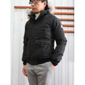 PYRENEX(ピレネックス)国内正規品  HMG024 MISTRAL JACKET ミストラルジャケット ミリタリーショートデザインダウンジャケット Black gaku-shop