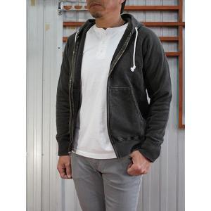 グッドオン GOOD ON(グッドオン) RAGLAN ZIP HOOD SWEAT ラグランジップフードスウェット P-Black|gaku-shop