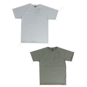 グッドオン GOOD ON(グッドオン) S/S  RAGLAN HEAVY POCKET TEE ラグランポケットT White Metal Gray|gaku-shop