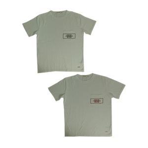 U.S.W Hub&Spoke ハブアンドスポーク クルーネックポケットTシャツ Black Red|gaku-shop