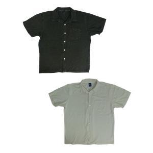 グッドオン GOOD ON(グッドオン) S/S OPEN TEE SHIRTS 半袖オープンTシャツ P-BLACK  WHITE|gaku-shop