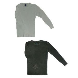 グッドオン GOOD ON  グッドオン サーマルロングスリーブTシャツ ブラック ホワイト メタル |gaku-shop