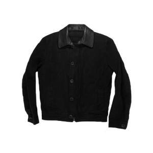 トゥモローランド  レザー襟が取り外せる ブラックカラー Gスタイル ブルゾン|gaku-shop