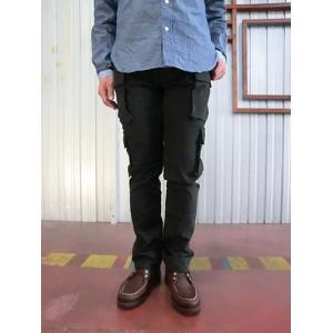 STUDIO ORIBE(スタジオオリベ) EP05 細身でスタイリッシュに穿ける 8ポケットカーゴパンツ ダークブラウン