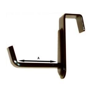 鉄製品。 長押(鴨居の上に水平に取り付ける木材)へ掛け、額縁を受ける形で使用します。 2つ1組での販...