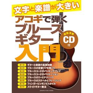 教則本+CD ギター 文字と楽譜が大きい アコギで弾くブルースギター入門