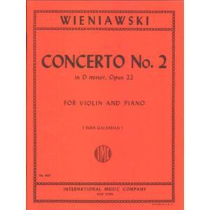 【取寄品】GYS00072765 ウィニアウスキ バイオリン 協奏曲2番ニ短調 OP.22/ガラミアン編/バイリンとピアノ WIENIAWS