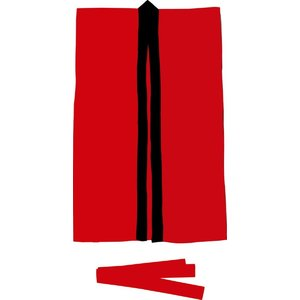 アーテック(Artec)運動会用品 サテンロングハッピ 赤 L(ハチマキ付) 大きさ:660×1100mm  ハチマキ:1700×45mm gakurin
