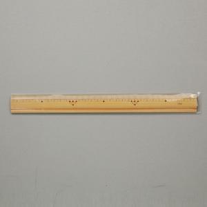 竹ものさし みぞ付(30cm片目盛) |gakurin