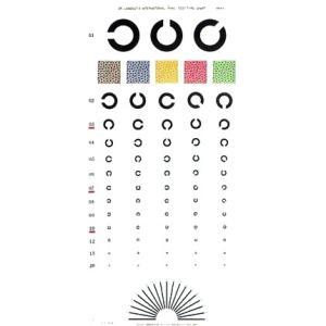 視力表 ランドルト式 1枚 大きさ:76(縦)×35(横)cm 検査距離5m gakurin