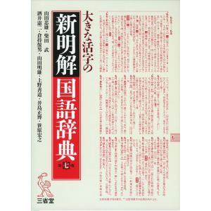 大きな活字の 新明解 国語辞典 第七版