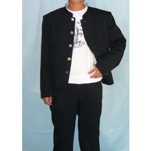 短ラン 学生服 モンテローザ丈66cm(M)2cm上り Vラインシルエット