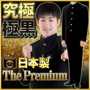 学生服 上下 日本製 帝人プレミアム 超々黒EXTRA BLACK  A体 スリム体 gakuseifuku