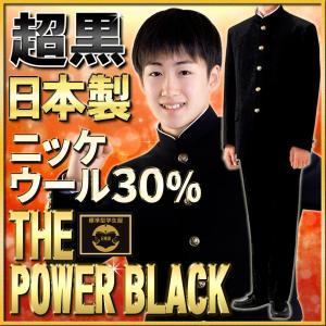 学生服 上下セット ニッケナノ加工ウールTHE POWER BLACK30% 全国標準型 gakuseifuku