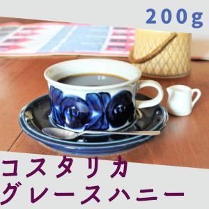 コスタリカ グレースハニー 自家焙煎 コーヒー豆 [豆挽き済] □産地:コスタリカ □内容量:200g|gakuzancoffee