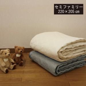 2重ガーゼ敷きパッド セミファミリー(220×205cm) 敷きパット ダブルガーゼ ベッドパッド ペットパット シングルとセミダブル|galette-des-rois