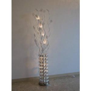 照明 照明器具 シャンデリア フロアスタンド  新品 可愛いアルミ製フロアスタンドシルバータイプ おしゃれ 豪華 アンティーク ライト インテリア galle0105