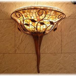 照明 照明器具 ブラケット LED 壁掛け照明  新品 天然貝殻ガラス細工 LEDブラケット照明  おしゃれ 豪華 アンティーク ライト インテリア|galle0105