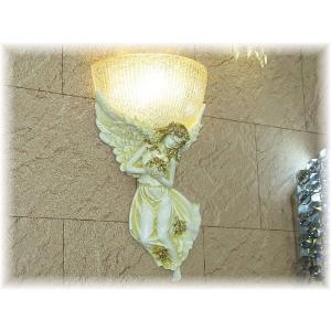 照明 照明器具 ブラケット LED 壁掛け照明  新品 LED付きエンジェルデザインガラスブラケット おしゃれ 豪華 アンティーク ライト インテリア|galle0105
