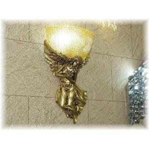 照明 照明器具 ブラケット LED 壁掛け照明  新品 LED付きエンジェル デザインガラスブラケット 照明器具 照明 ブラケット LED 豪華|galle0105