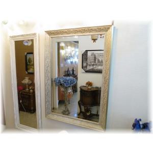 鏡 かがみ カガミ おしゃれ ミラー 姿見 壁掛け 大型   新品 アンティーク調 シンプルデザイン 木製 壁掛鏡 豪華 ドレッサー 卓上 スタンドミラー|galle0105