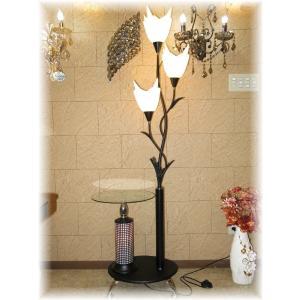 照明 照明器具 シャンデリア フロアスタンド  新品 広角LED&ガラステーブル付フロアスタンド おしゃれ 豪華 アンティーク ライト インテリア galle0105