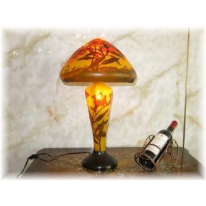 照明 照明器具 卓上照明 LED スタンド照明  新品 ガレ風ガラス工芸アンティーク調卓上ランプ おしゃれ 豪華 アンティーク ライト インテリア galle0105