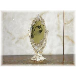 【送料無料!】新品 アンティーク調 卓上鏡 鏡 鏡台 鏡月 壁掛け 卓上 全身 ドレッサー かがみ ...