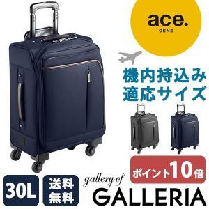 セール30%OFF エースジーン ace.GENE EVL-2.5s トローリー キャリーケース 機内持ち込み スーツケース 小型 ソフト 30L 4輪 出張 54594