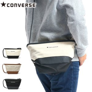 コンバース/CONVERSE/Canvas×Fake Leather Shoulder Bag/ショ...