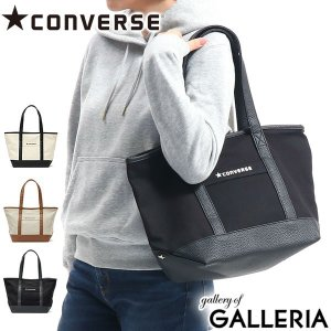 コンバース/CONVERSE/Canvas×Fake Leather Medium Tote Bag...