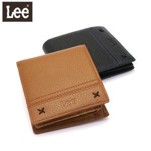 c258e56a1b23 Lee 財布 LEE リー rock 二つ折り財布 ロック 小銭入れあり レザー 本革 ウォレット メンズ レディース 320-1884